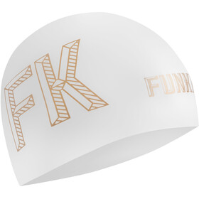 Funkita Seamless Silicon Swimming Cap 10 Pieces Women, stencilled white